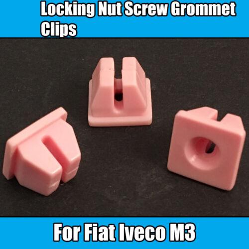 20x Clips Pour Fiat Iveco M3 Verrouillage Écrou Vis Oeillet Clips Rose Plastique 1000533