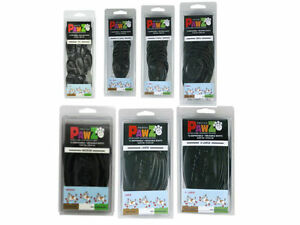 Pawz Waterproof Dog Boots In Black Color (2 Packs of 12-Pack- 24 Total) Tiny-XL