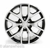 "4 Cadillac Escalade Ext Esv Black & Machined Face 22"" Wheels Rims Lugs 5656"