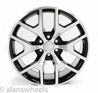 "4 Cadillac Escalade Ext Esv Black & Machined Face 22"" Wheels Rims Lugs 5656"