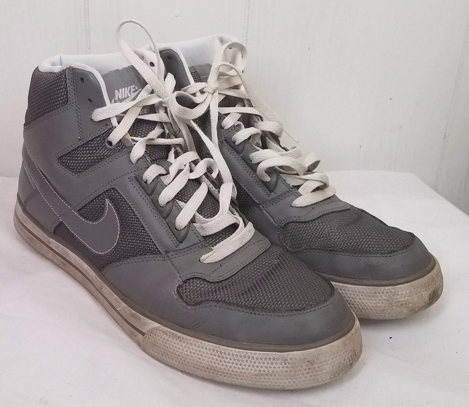 Nike Delta Force High AC Mens gray sneakers tennis Shoes size 12