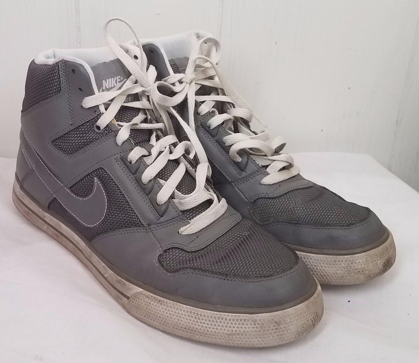 Nike delta force hohe turnschuhe ac - mens graue turnschuhe hohe tennisschuhe größe 12 e6d16d