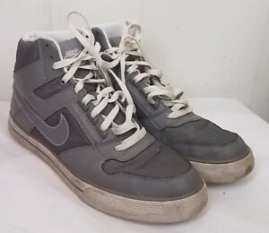 new products 30115 e234d Image is loading Nike-Delta-Force-High-AC-Mens-gray-sneakers-