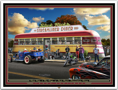 Hot Rod Art Print by Larry Grossman THE STREAMLINER DINER