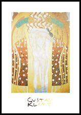 Gustav Klimt Diesen Kuss der ganzen Welt Poster Kunstdruck im Alu Rahmen 80x60cm