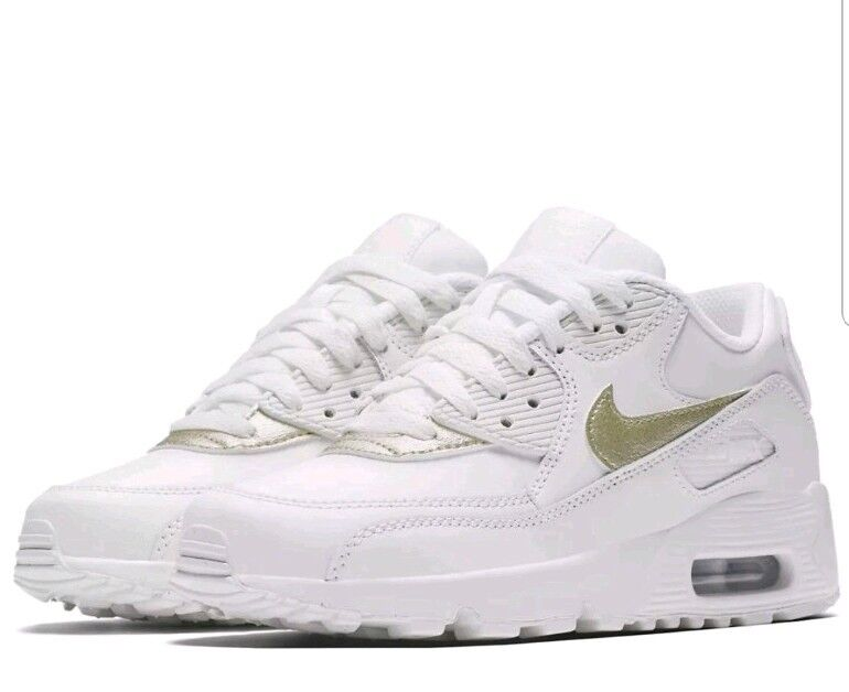 Nike Air Max 90 LTR  gris Femme trainers blanc  LTR Gold 833376-103 72d471