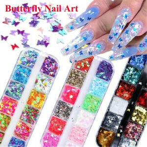 12Grid-Laser-3D-Butterfly-Sequins-Holographic-Nail-Art-Flakes-Glitter-Foil-Decor