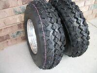 (2) Tire Wheel Rim Kit 6 Ply Front 21x7-10 Yamaha Blaster 200