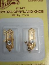 Crystal Provencial Door Knob 2Pcs TW 1140 5684 1:12 Dollhouse Miniature