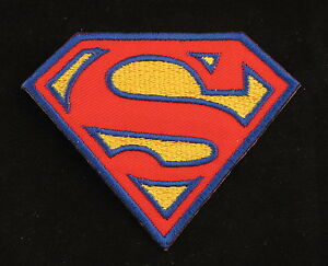 RETRO-SUPERMAN-Iron-On-Sew-On-Patch-2-Colours