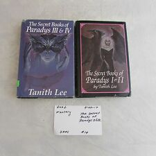 The Secret Books Of Paradys I, II, III & IV in 2 hardcover books-Tanith Lee 0428