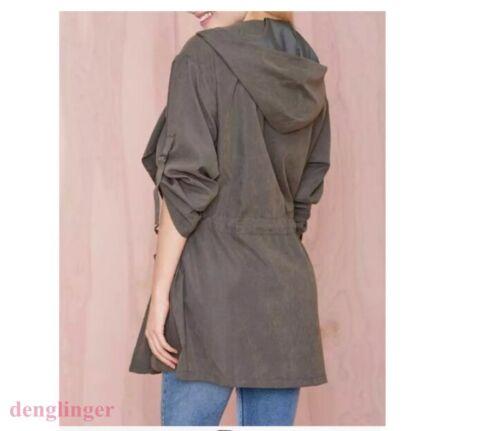 Fashion Women Warm Hooded Windbreaker Long Coat Jacket Trench Parka Outwear New
