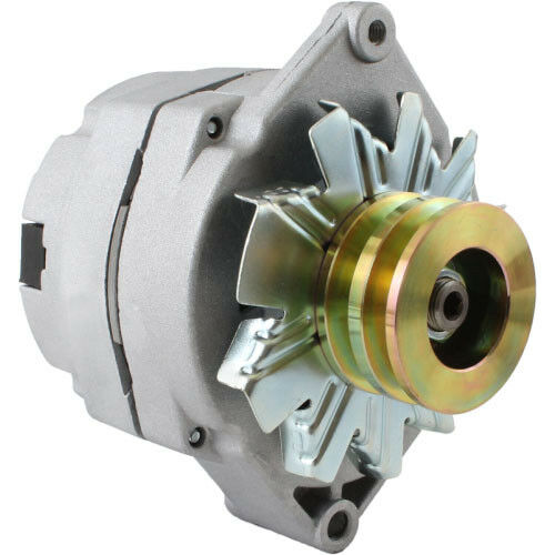 New Alternator Tractor /& Chevy 10SI 1-Wire One Wire 2 Groove Pulley 63 Amp 12 V