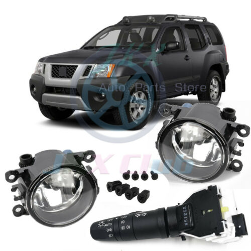 Clear Fog Light Driving Lamp Headlight Switch Kit for Nissan Frontier Xterra