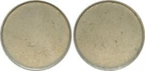 2 DM Blank Max Planck Frg (2) Lack Coinage, (44735)
