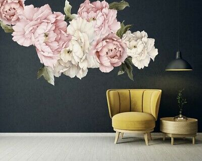 20 Piece Peony Flowers Wall Decal Set Baby Room Nursery