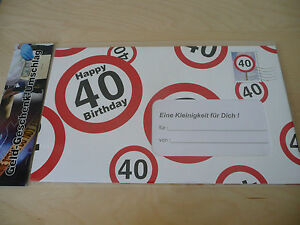 40 Geburtstag Riesen Geld Geschenk Umschlag 40 30x18cm Aus