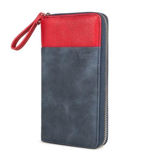 Zwei Eva EV2  Geldbörse Portemonnaie Geldbeutel Brieftasche mit Reißverschluss