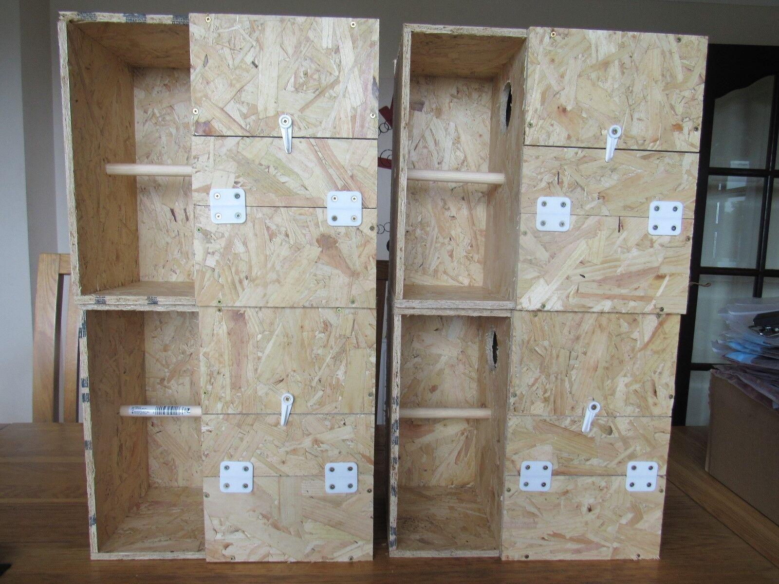 4 X KAKARIKI NEST BOXES WITH PORCH CRECHE FOR BREEDING 8 X8 X13    13.5 X13 X8