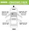 Rear Left Outside Door Handle For 96 97 98-00 Honda Civic Taffeta White NH-578