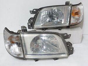 Details about JDM 00-02 SUBARU FORESTER SF5 HEADLIGHTS & CORNER LIGHTS HEAD  LAMP LATE MODEL
