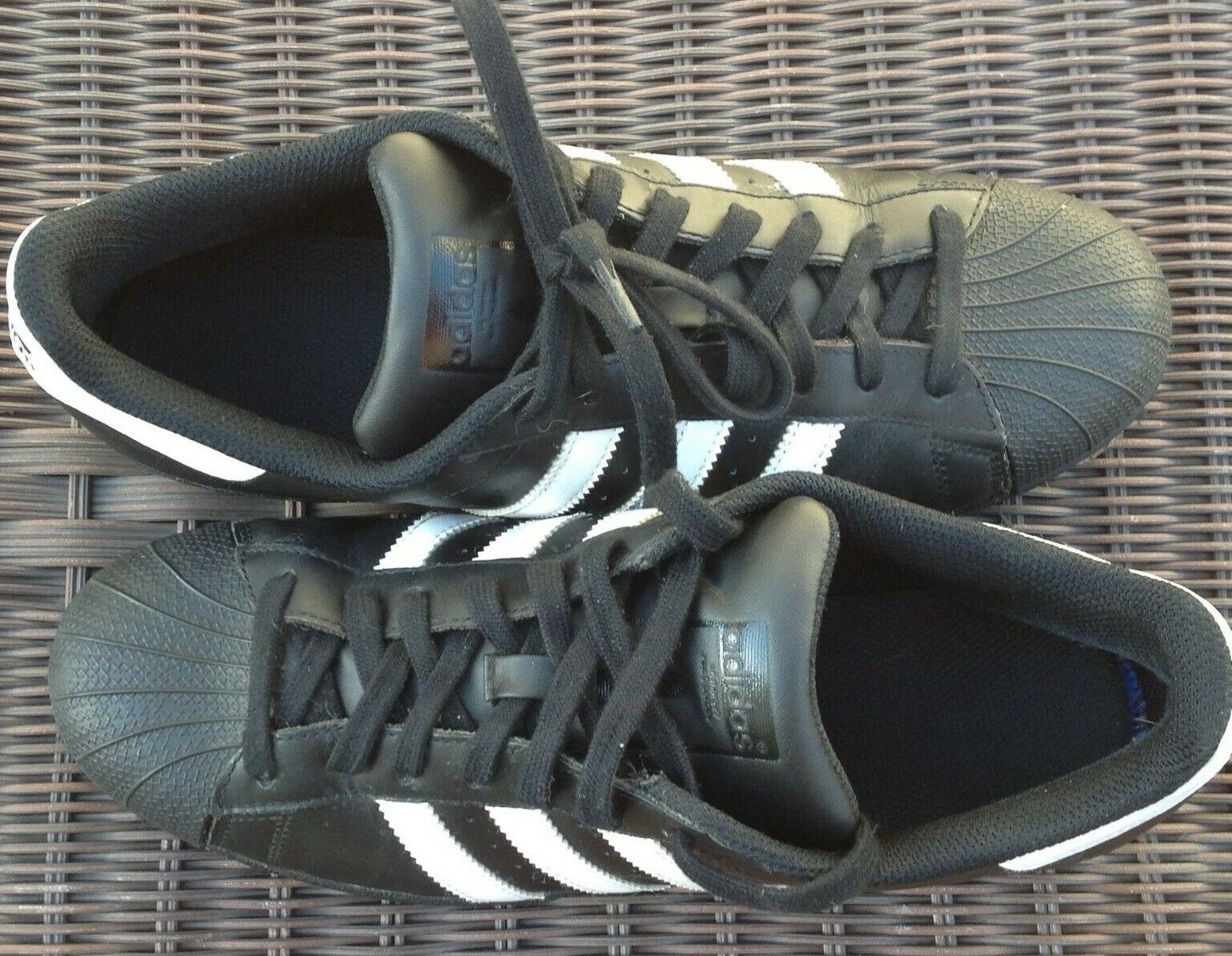 Adidas Superstar Man's Sneakers Black Size 9.5