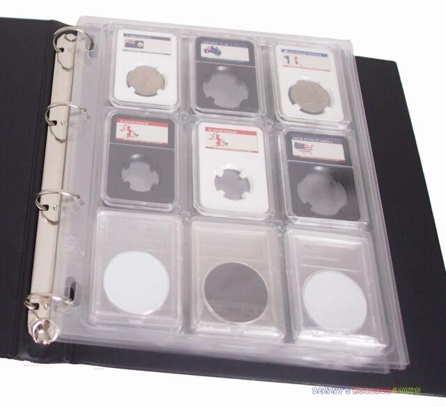4x Slab Album Binder Page Encap Coin Storage Sheet for PCGS NGC Certified Holder