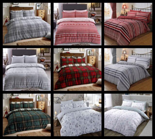 Alpine Patchwork Flannelette Duvet Set King Size Bedding Home Bedroom Super Soft