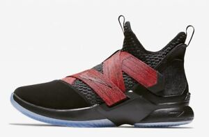 super popular 105fb e5a2d Image is loading Nike-Lebron-James-Soldier-XII-12-Red-Straps-