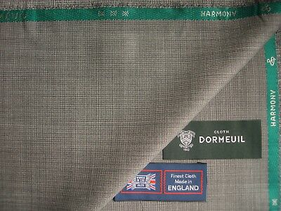 "DORMEUIL 100/%SUPERFINE WOOL SUITING ""HARMONY""FABRIC IN Grey MADE IN ENGLAND-3.4m"