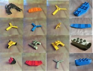 Lego-Duplo-Propeller-Heckflosse-Kufen-Rotor-Rad-Flugzeug-Fahrwerk-Triebwerk