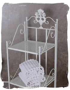 vintage regal bad regal im landhausstil ablage nostalgie. Black Bedroom Furniture Sets. Home Design Ideas
