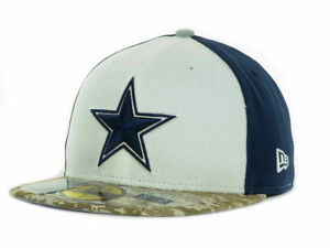c820c4ef52b Dallas Cowboys NFL Salute To Service New Era 59Fifty Camo Fitted Hat ...