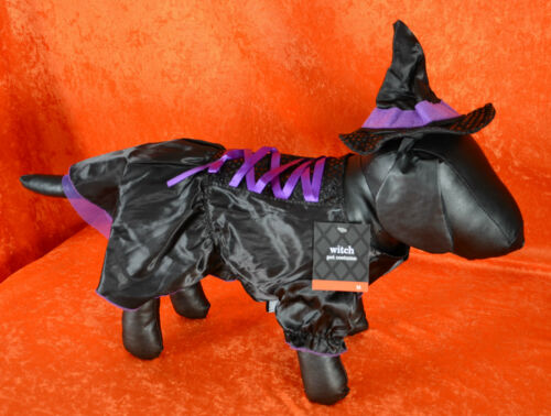 Dog Animal Pet Halloween Costume WITCH Dress Outfit Black Small Medium Large