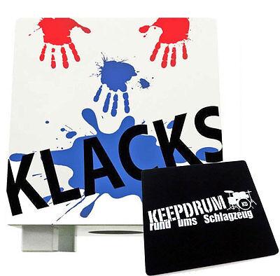 Baff Klacks Trommelhocker Bianco Cajon Per Bambini + Keepdrum Sitzpad