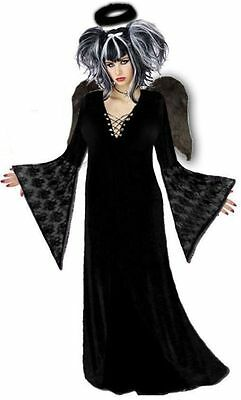 Black Gothic Dark Angel Plus Size Halloween Costume NEW Standard / Extra Tall !!