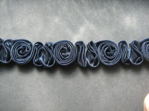 Navy Blue Rose Trim   Crafts//Costume//Victorian//Goth//Bridal