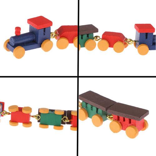 1:12 Dollhouse Miniature Cute Wooden Train Doll House Decor Active Toys  W