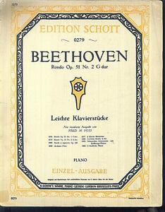 Beethoven-Rondo-Op-51-Nr-2-G-Dur-uebergrosse-alte-Noten