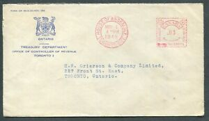 CANADA-METER-POSTAGE-COVER-034-TREASURY-DEPARTMENT-034-3-HOUSE-OF-ASSEMBLY