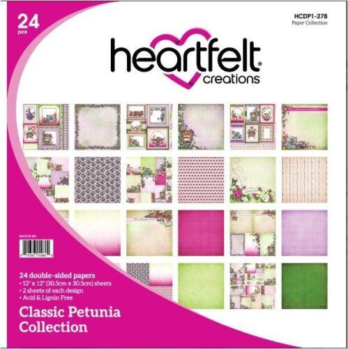 "24ct Heartfelt Creations 12/""x12/"" Cardstock pack ~ CLASSIC PETUNIA ~278"