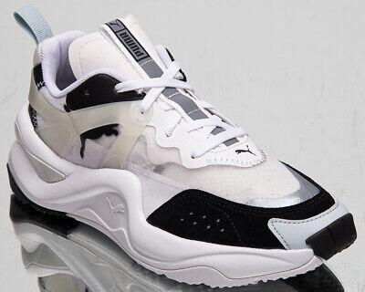 puma rise women's black white casual lifestyle shoes low