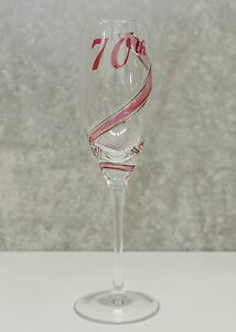 40th Birthday Champagne Glass FluteUnique Gift for Her Keepsake Idea