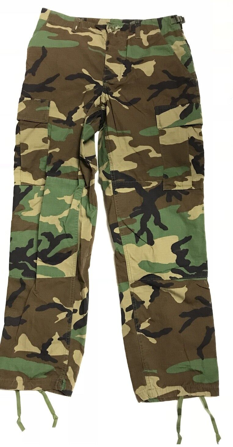 US Army WCP Woodland Camouflage Cargo BDU NYCO Outdoor Pants Trousers Medium