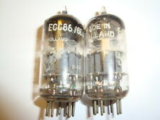 One Matched Pair of Early Anperex Bugle Boy ECC88 / 6DJ8 Tubes, D-Getter