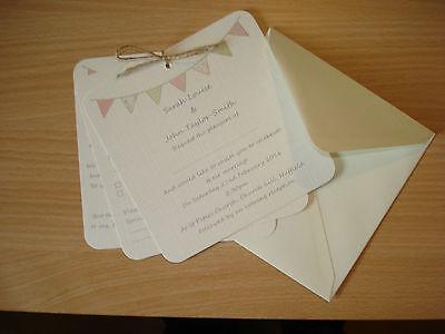 PERSONALISED WEDDING DAY/ EVENING INVITATIONS  Rsvp  Card Set & ENVELOPES 5x5