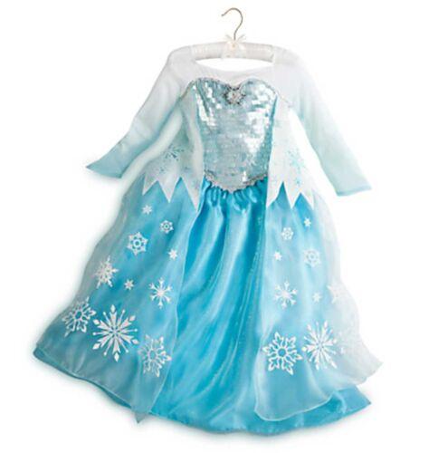 Disney Store Frozen Elsa Costume Dress Size 5 6 7 8