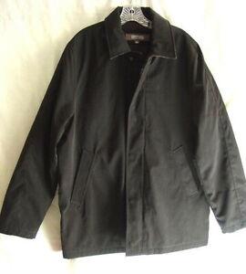 KENNETH-COLE-REACTION-BRIGHTON-Black-Dress-Coat-Jacket-Mens-Large-NEW