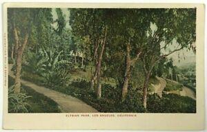 Elysian Park Los Angeles California CA Vintage Undivided 1900's Postcard