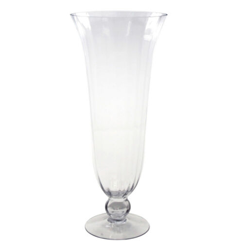 Clear Glass Tall Hurricane Floral Vase 24-Inch
